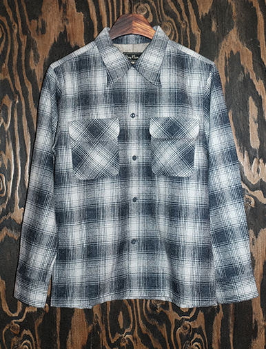 WOOL SHADOW CHECK OPEN SHIRTS