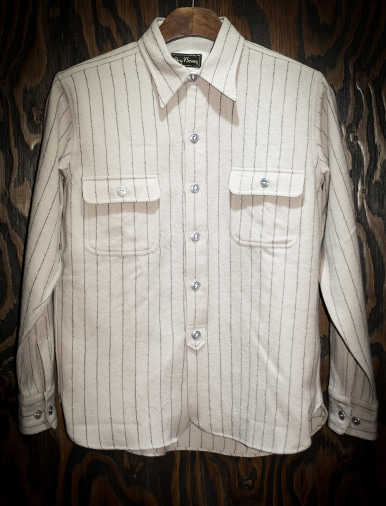 STRIPE WOOL WORK SHIRT