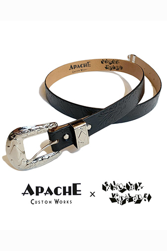 "SILLY VILLE X APACHE CUSTOM WORKS ""3Piece Western Skinny Belt"""