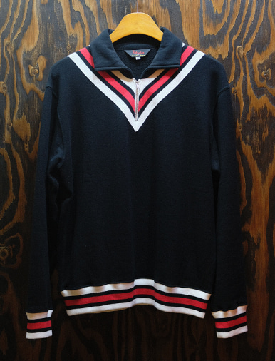 ZIP UP SWEATER BLACK