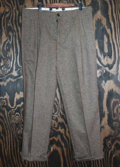 SILK BLEND TWO TACK TROUSERS