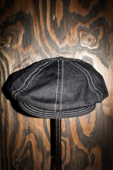 STITCHWORK COTTON CLOTH CASQUETTE