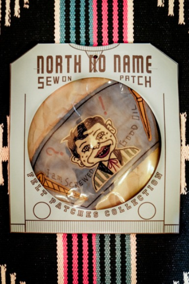 "NORTH NO NAME FELT PATCH ""I AM SCREWED GOOD DIL"""