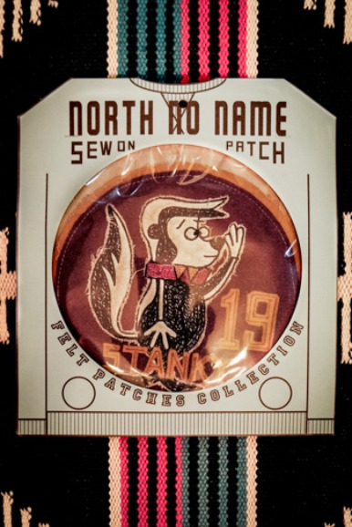 "NORTH NO NAME FELT PATCH ""STANKY"""