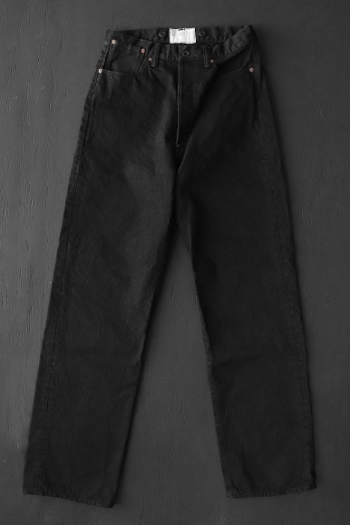 15oz BLACK DENIM VOCALION WAIST-OVERALLS
