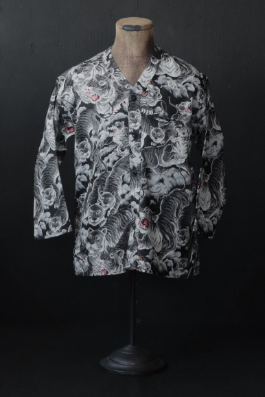 HUNDRED TIGER FULL OPEN SURGEON SHIRT