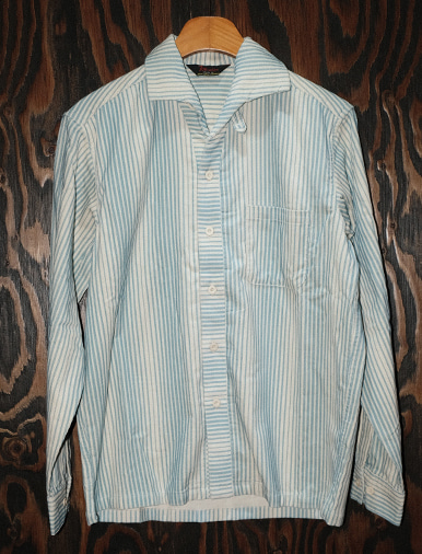 STRIPE CORD SHIRT BLUE